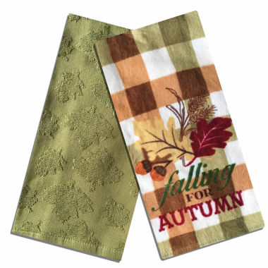 jcpenney.com | Homewear® Falling for Autumn Set of 2 Kitchen Towels