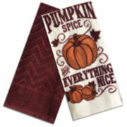 Homewear® Pumpkin Spice And Everything Nice Set of 2 Kitchen Towels