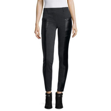 jcpenney.com | Worthington® Zip-Pocket Moto Leggings