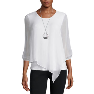 jcpenney.com | Alyx® Long-Sleeve Asymmetrical Woven Necklace Top