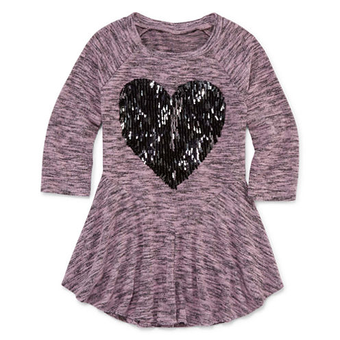 Total Girl 3/4 Sleeve Graphic Knit Tunic - Girls' 7-16 & Plus