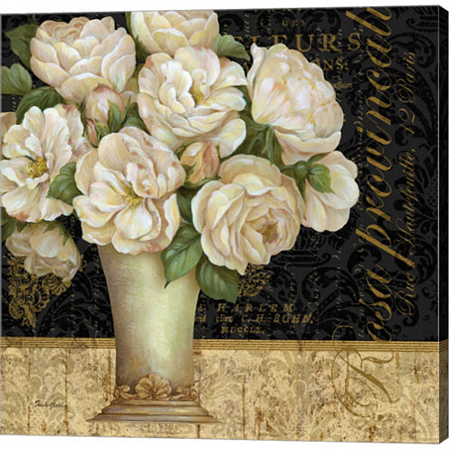 Antique Floral Still Life I Gallery Wrapped CanvasWall Art On Deep Stretch Bars