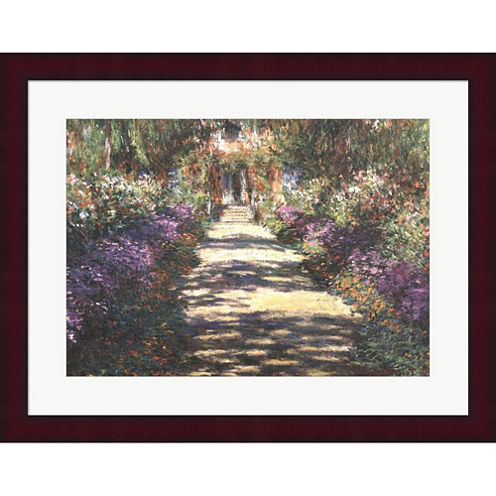 Garden At Giverny Framed Print Wall Art