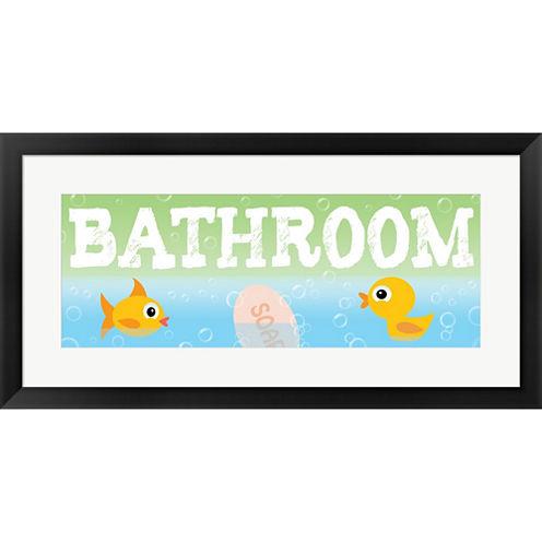Bathroom Framed Print Wall Art