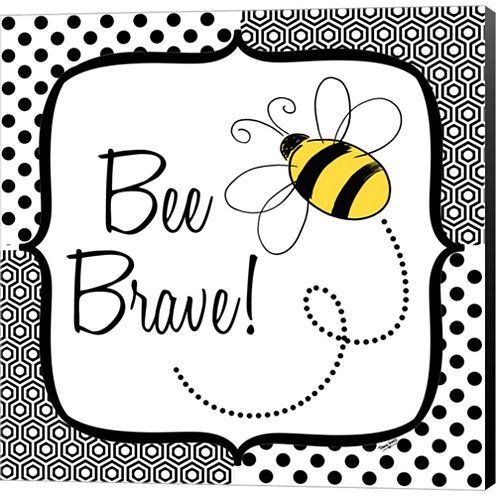 Be Happy And Brave II Gallery Wrapped Canvas WallArt On Deep Stretch Bars