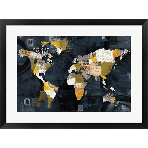Golden World Framed Print Wall Art