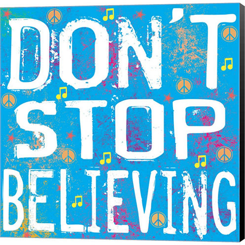 Believing Gallery Wrapped Canvas Wall Art On DeepStretch Bars