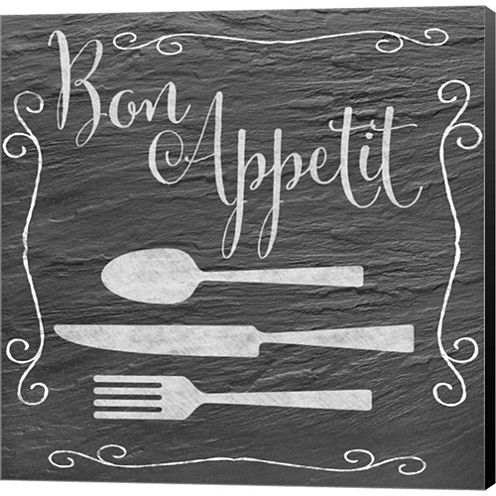 Bon Appetit Gallery Wrapped Canvas Wall Art On Deep Stretch Bars