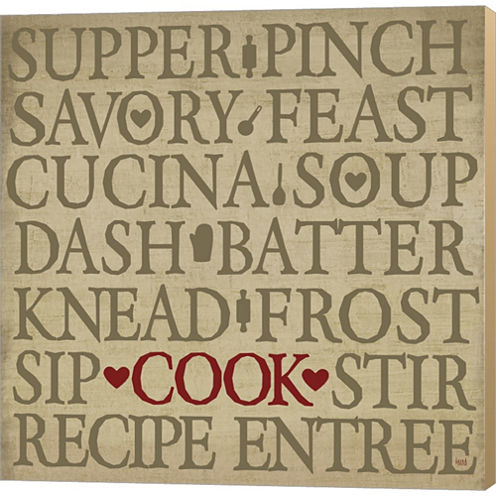 Chef's Words II Gallery Wrapped Canvas Wall Art OnDeep Stretch Bars