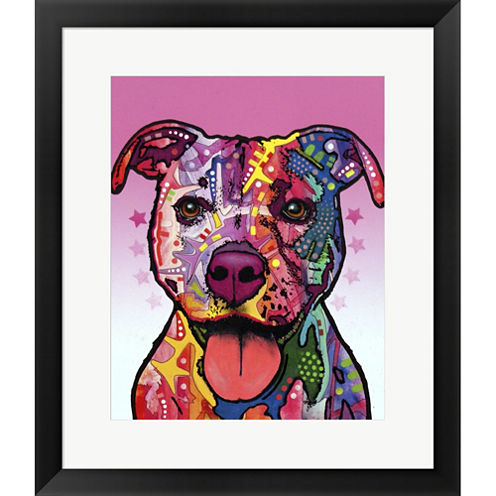 Cherish The Pitbull Framed Print Wall Art