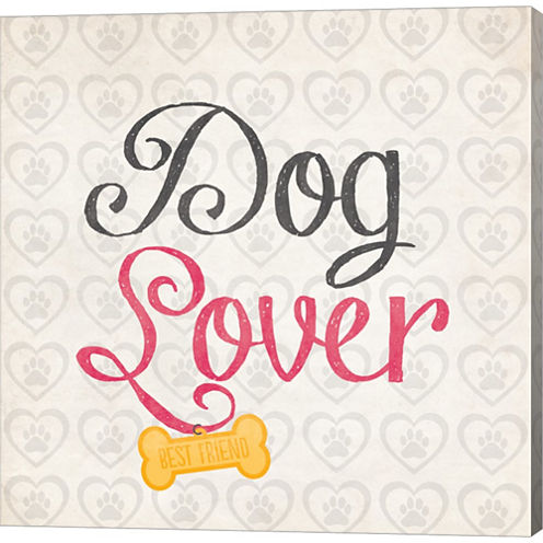Dog Lover Gallery Wrapped Canvas Wall Art On DeepStretch Bars