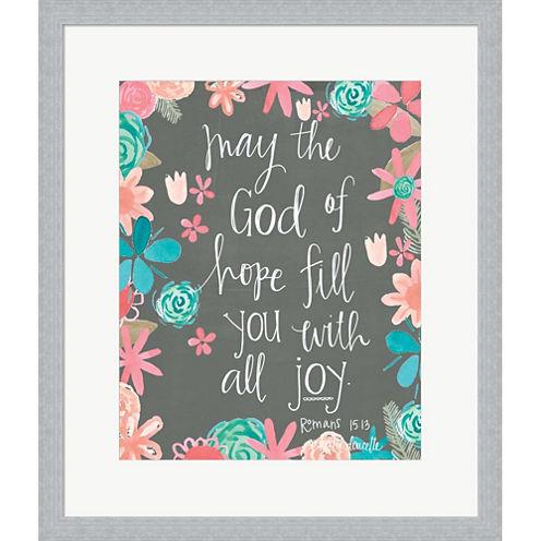 Hope Of God Framed Print Wall Art