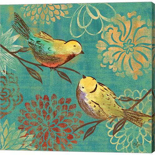 Elegant Chickadee II Gallery Wrapped Canvas Wall Art On Deep Stretch Bars