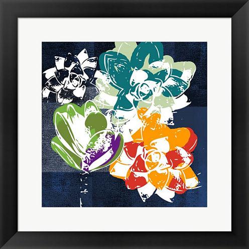 Colorful Succulents I Framed Print Wall Art