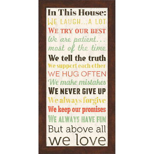 In This House 2 Framed Print Wall Art