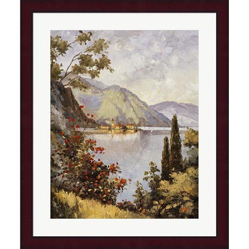 Lake Como Framed Print Wall Art