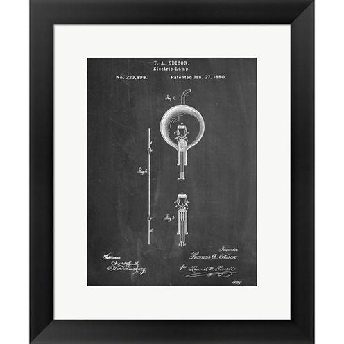 Light Bulb Edison Framed Print Wall Art