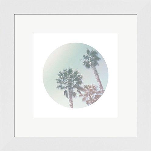Faded Palms Framed Print Wall Art