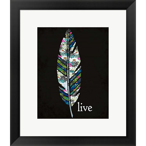 Live Framed Print Wall Art