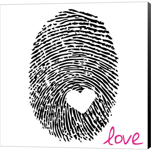 Love Thumbprint Gallery Wrapped Canvas Wall Art OnDeep Stretch Bars