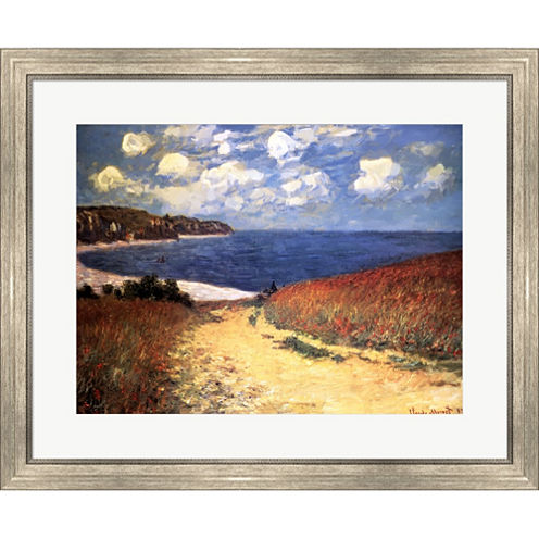 Meadow Rd. To Pourville Framed Print Wall Art