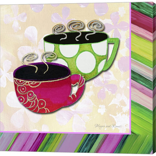 Tea Party I Gallery Wrapped Canvas Wall Art On Deep Stretch Bars