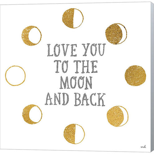 To The Moon Gallery Wrapped Canvas Wall Art On Deep Stretch Bars