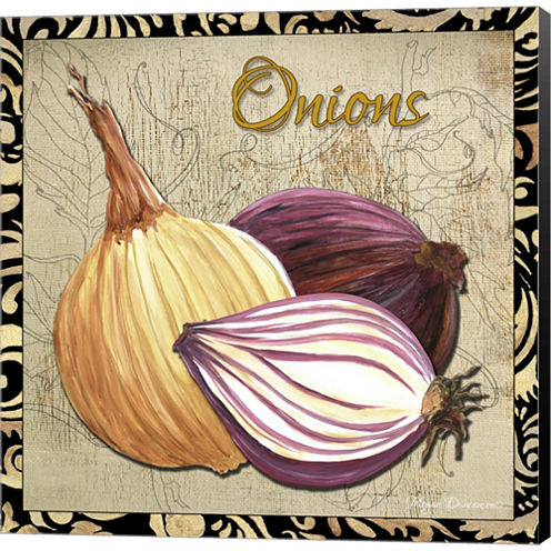 Vegetables 1 Onions Gallery Wrapped Canvas Wall Art On Deep Stretch Bars