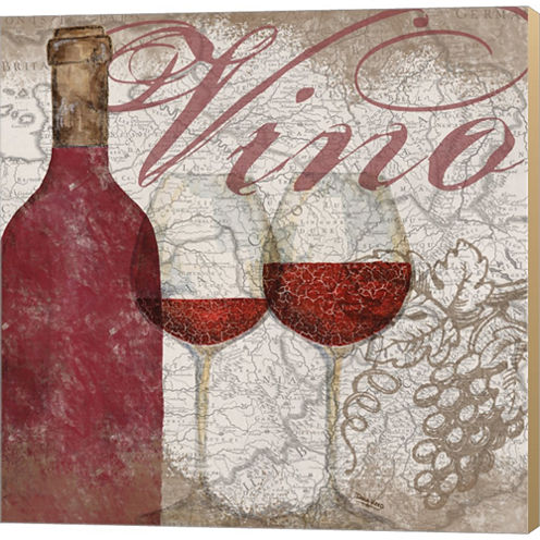 Vino And Vin I Gallery Wrapped Canvas Wall Art OnDeep Stretch Bars