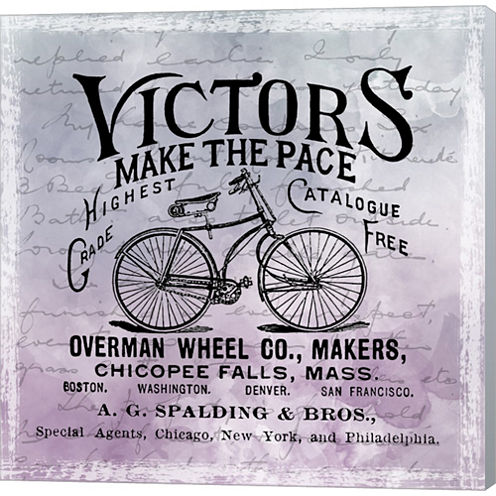 Vintage Bicycle Gallery Wrapped Canvas Wall Art OnDeep Stretch Bars