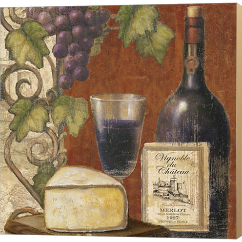 Wine And Cheese Tasting 3 Gallery Wrapped Canvas Wall Art On Deep Stretch Bars