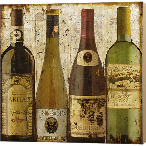 Wine Samples Of Europe I Gallery Wrapped Canvas Wall Art On Deep Stretch Bars