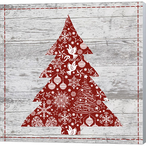 Xmas Sign III Gallery Wrapped Canvas Wall Art On Deep Stretch Bars