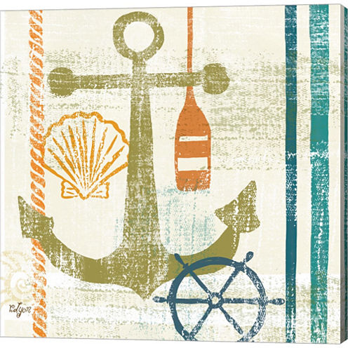 Nautical Brights I Gallery Wrapped Canvas Wall ArtOn Deep Stretch Bars