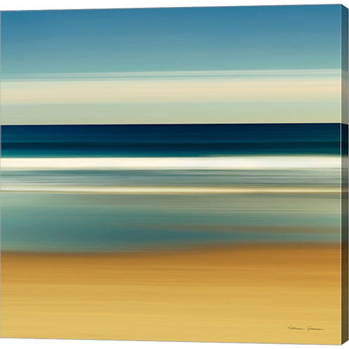 Sea Stripes II Gallery Wrapped Canvas Wall Art OnDeep Stretch Bars