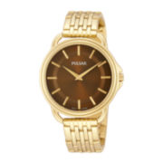 Pulsar® Easy Style Womens Gold-Tone Stainless Steel Bracelet Watch