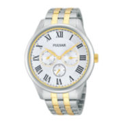 Pulsar® Traditional Mens Two-Tone Stainless Steel Watch