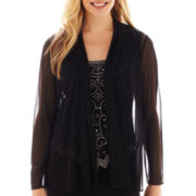 MSK Long-Sleeve Sheer Jacket - Petite