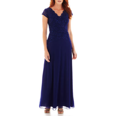 jcpenney.com | Blu Sage Short-Sleeve Lace Formal Gown