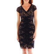 Scarlett Short-Sleeve Lace Dress