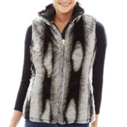 KC Collections Quilted Reversible Faux-Fur Vest