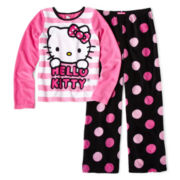 Hello Kitty® Fun Dot 2-pc. Pajamas - Girls 4-10