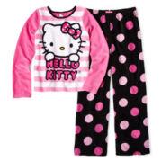 Hello Kitty® Fun Dot 2-pc. Pajamas - Girls 4-10