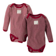 Burt's Bees Baby™ 2-pk. Short-Sleeve Holiday Bodysuits – Girls newborn-24m