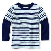 Okie Dokie® Long-Sleeve Striped Tee – Boys 12m-24m
