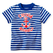 Okie Dokie® Short-Sleeve Striped Knit Tee – Boys newborn-24m