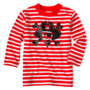 Okie Dokie® Long-Sleeve Striped Graphic Tee - Boys newborn-24m