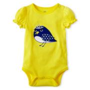 Okie Dokie® Short-Sleeve Rib-Knit Bodysuit – Girls newborn-9m
