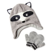 Carter's® Raccoon Mitten Set – Boys 12m-24m
