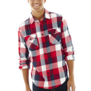 Arizona Button-Front Flannel Shirt